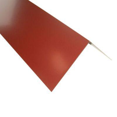 Rive pour plaque Alizé et Alizé + rouge 8012. Utilisation : La rive est l'extrémité du toit sur un pignon, pour les couvertures en plaques acier Alizé et Alizé + rouge 8012. Dimensions : 100 x 31,5 cm. Epaisseur 63/100 ème.