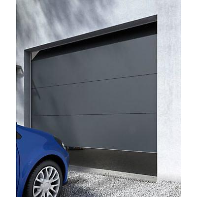 Porte De Garage Sectionnelle Londres Grise L 240 X H 200 Cm Pre Montee Castorama