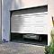Porte de garage sectionnelle motorisée à cassettes Paris blanche - L.240 x h.200 cm