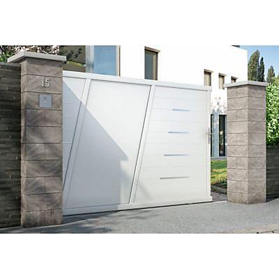 Portail Coulissant Aluminium Bournois Blanc 9016 Brillant 300 X H 173 3 Cm Castorama