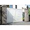 Portail Jardimat coulissant aluminium Bournois blanc 9016 - 300 x h.173,3 cm