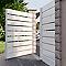 Portail pvc Infiny recoupable blanc - 350 x h.160 cm