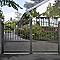 Portail aluminium Landas gris 7016 sablé - 300 x h.160 cm