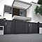 Portillon aluminium Mamirolle noir volcan 2100 sablé - 100 x h.136,7 cm