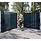 Portail Jardimat aluminium Valois gris 7016 sablé - 350 x h.160 cm