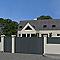 Portail aluminium Vallois gris 7016 sablé - 300 x h.160 cm