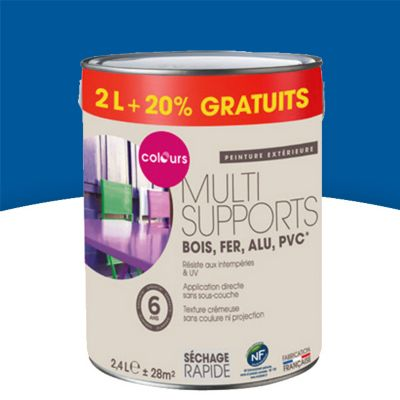 Peinture Multi Supports Colours Bleu Outremer Satin 2l 20