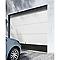 Porte de garage sectionnelle Rome blanche - L.240 x h.200 cm