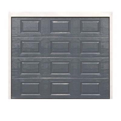 Porte de garage sectionnelle à cassettes Dublin grise - L.240 x h.200 cm