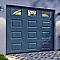 Porte de garage sectionnelle Hublots grise - L.240 x h.200 cm