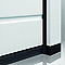 Porte de garage sectionnelle Inserts grise - L.240 x h.200 cm