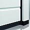 Porte de garage sectionnelle Plaques Carrées grise - L.240 x h.200 cm