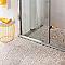 Carrelage sol galets blanc 30 x 30 cm