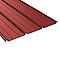 Plaque acier Alizé rouge 8012, 600 x 85 cm (vendue à la plaque)