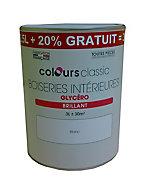 Peinture Boiseries intérieures Blanc Brillant 2,5L +20%