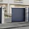 Portail coulissant aluminium Alpes gris antique - 350 x h.171 cm