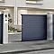 Portail coulissant motorisé aluminium Alpes gris antique - 350 x h.171 cm