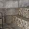 Mosaïque sol et mur grise 30 x 30 cm Container