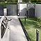 Chapeau de pilier plat 40 x 40 cm noir
