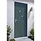Porte d'entrée aluminium 4 ALU Zoé gris 90 x 215 cm poussant droit