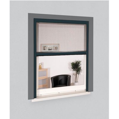 Moustiquaire de fenêtre en alu gris 125 x h.170 cm