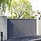 Portail coulissant aluminium Chalon gris 7016 sablé - 300 x h.160 cm