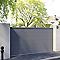 Portail coulissant aluminium Chalon gris 7016 sablé - 350 x h.160 cm