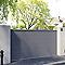 Portail coulissant aluminium Chalon gris 7016 sablé - 400 x h.160 cm