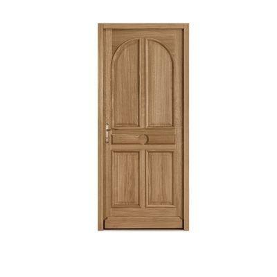 Porte d'entrée bois chêne Pula 90 x h.215 cm poussant droit