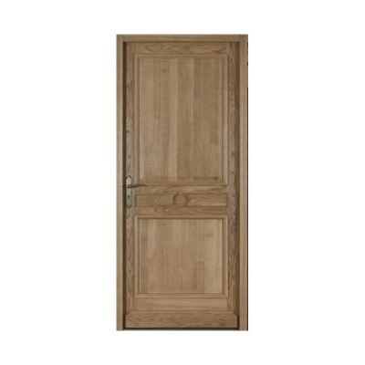Porte d'entrée bois chêne Siben 90 x h.215 cm poussant droit