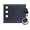 Porte de garage sectionnelle Vigo grise avec clavier à code