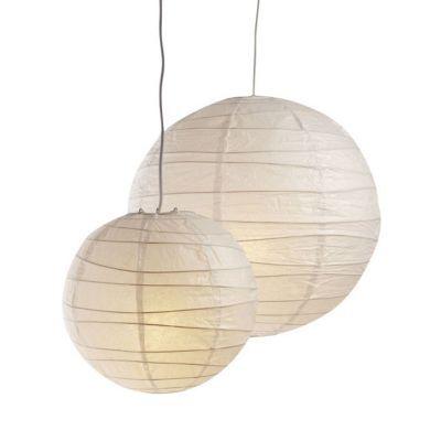 Suspension boule chinoise blanc Ø30 cm