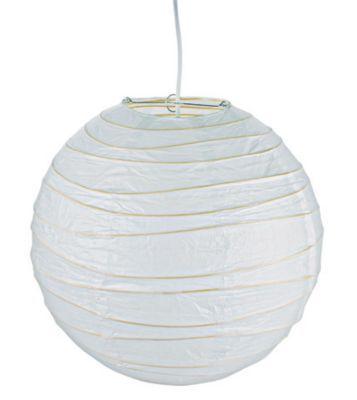 Suspension boule chinoise blanc Ø48 cm