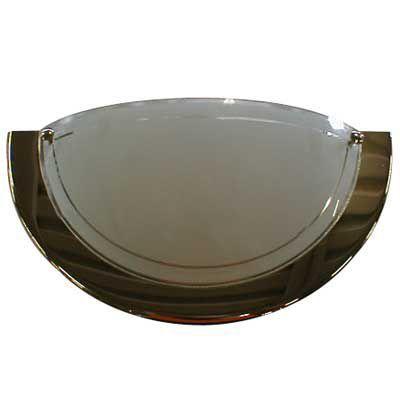 Applique murale Chrome H.15cm 60W - Dimensions : Ø 31 cm x H 15 cm - Matière : En métal et en verre - Type de culot + Puissance* maxi. : E27/60 Watts maximum - Ampoule fournie : Non - Monture fournie : Oui - Coloris : Chrome - Normes : CE -