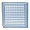 Brique de verre Quadrillé incolore