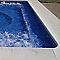 Margelle piscine droite ton pierre, ép.6 cm