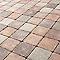 Pavé Antinéa nuancé brun 13,3 x 13,3 cm, ép.6 cm
