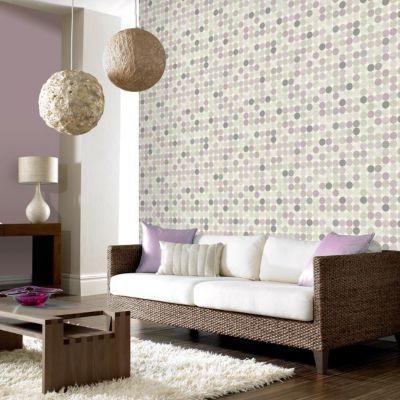 Papier peint papier sur papier FRESCO Duplex crépuscule violet