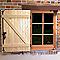 Volet battant sapin 2 vantaux 140 x h.125 cm