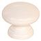 Bouton universel Ø35 mm en hêtre blanc brillant