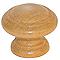 Bouton meuble régence hêtre verni Laris Ø30mm