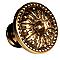 Bouton de meuble louis 16 laiton doré vieilli Ø30mm