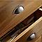 Poignée coquille métal chromé vieilli Clava entraxe 70mm