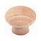6 boutons de meubles simples bois brut Ø25mm
