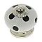 4 boutons de meuble porcelaine blanc à pois noirs 4 x 4 cm