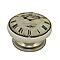 4 boutons de meuble Vieille Horloge porcelaine 3,8 x 2,4 cm