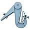 Crochet réglable en PVC pour fixation des gouttières