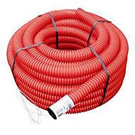 Gaine pour réseaux enterrés rouge Ø 50 mm x 15 m