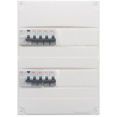 Tableau électrique pré-équipé 2 rangées AEG