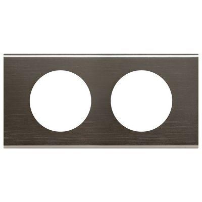 Plaque de finition double legrand céliane matière black nickel